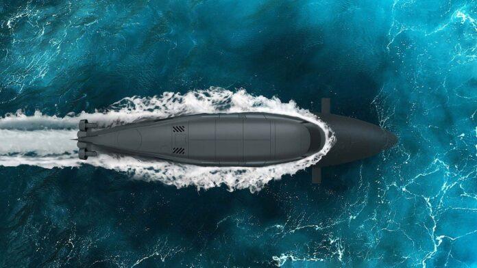 Submarin cu barca cu motor